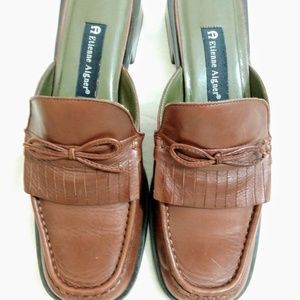 Etienne Aigner Crew Brown Leather Slipon Loafer
